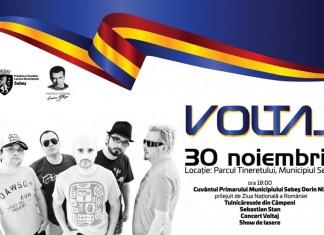 PROGRAMUL evenimentelor dedicate Zilei Naționale, la Sebeș: concert VOLTAJ, Sebastian Stan și show de lasere